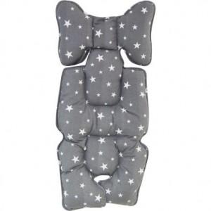 Protectie textila pt carucior/scaun Grey Stars