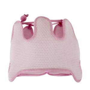 Casca protectie cap reglabila alb-roz Sevi Bebe