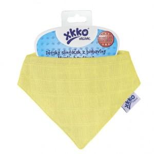 Esarfa din bumbac organic Wax Yellow XKKO